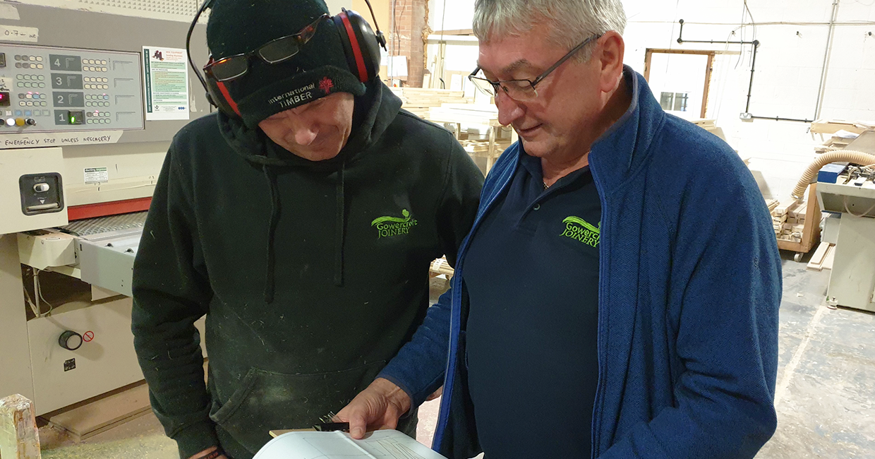 Gowercroft's technical manager Gary Chatwood (right) with machinist Darren Pepper