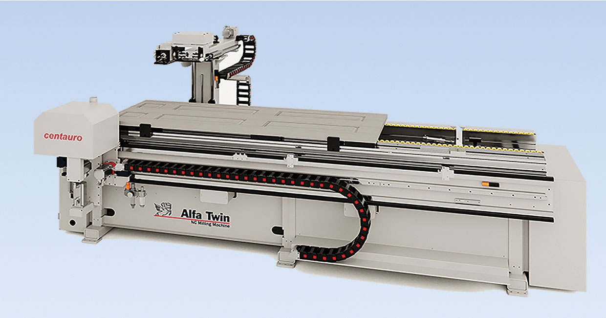 New Centauro ALFA Twin – CNC milling machine for doors and frame