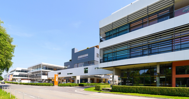 Blum's Hoecsht 2 plant, head office of the Blum Group