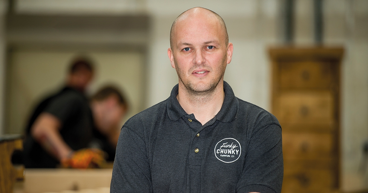 Kevin Johnston, managing director of Funky Chunky Furniture