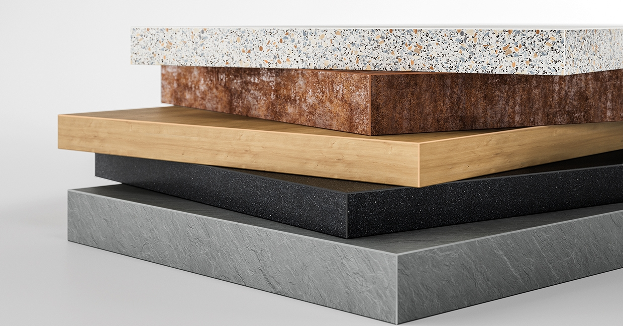 Ostermann supplies furniture makers with a great range of furniture edgings with worktop decors. Edgings are delivered from a length of 1m