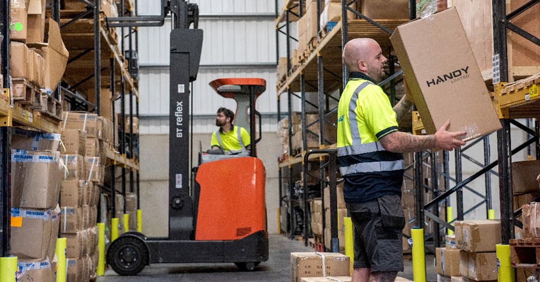 Handy's Stoke based factory/distribution facility