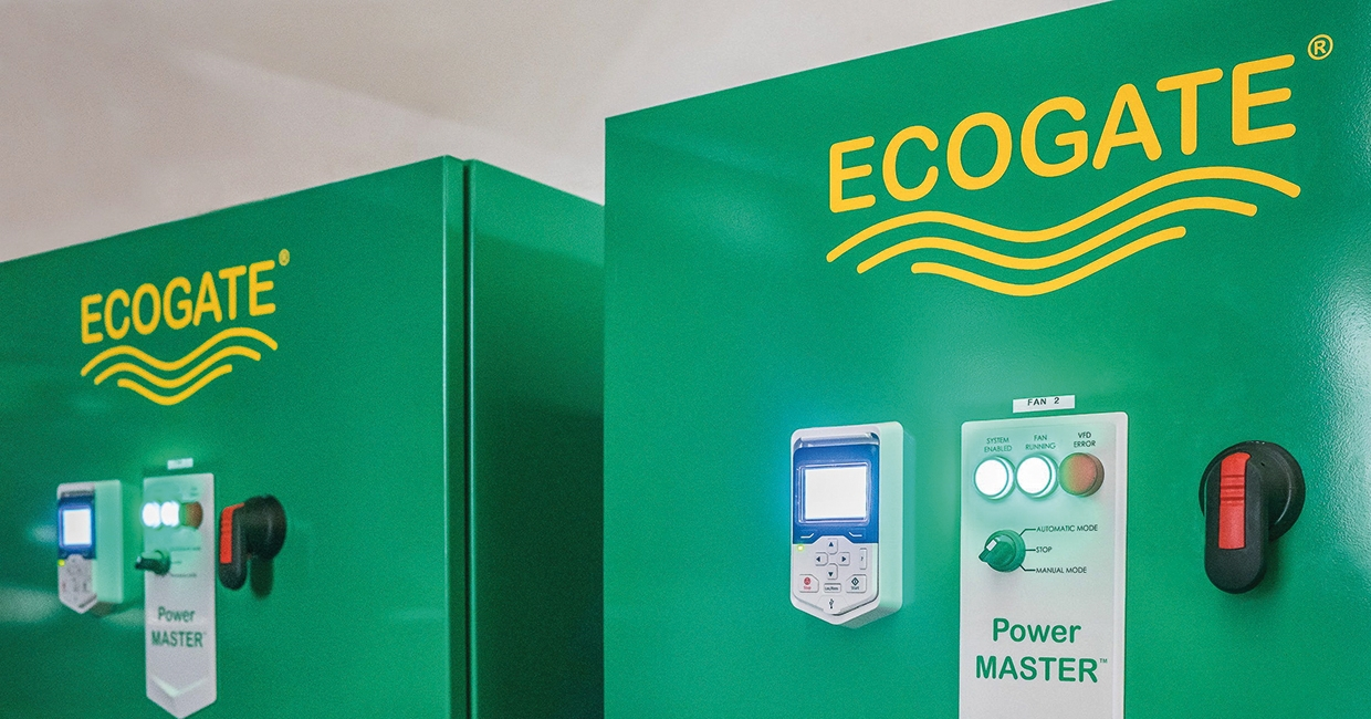 Ecogate Power MASTER variable speed drive units adjust fan speed