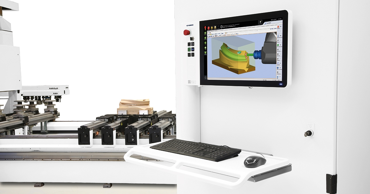 Homag's powerful CNC software guarantees effortless and efficient programming