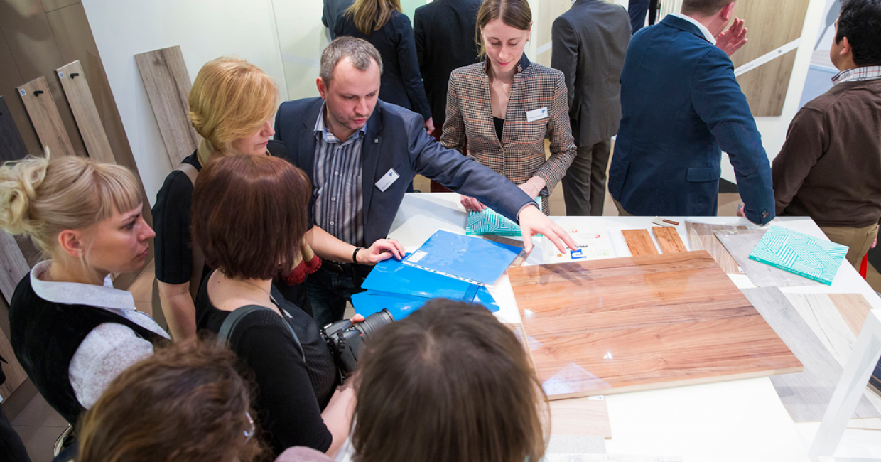 Customers showed their enthusiasm for the new Interprint presentation