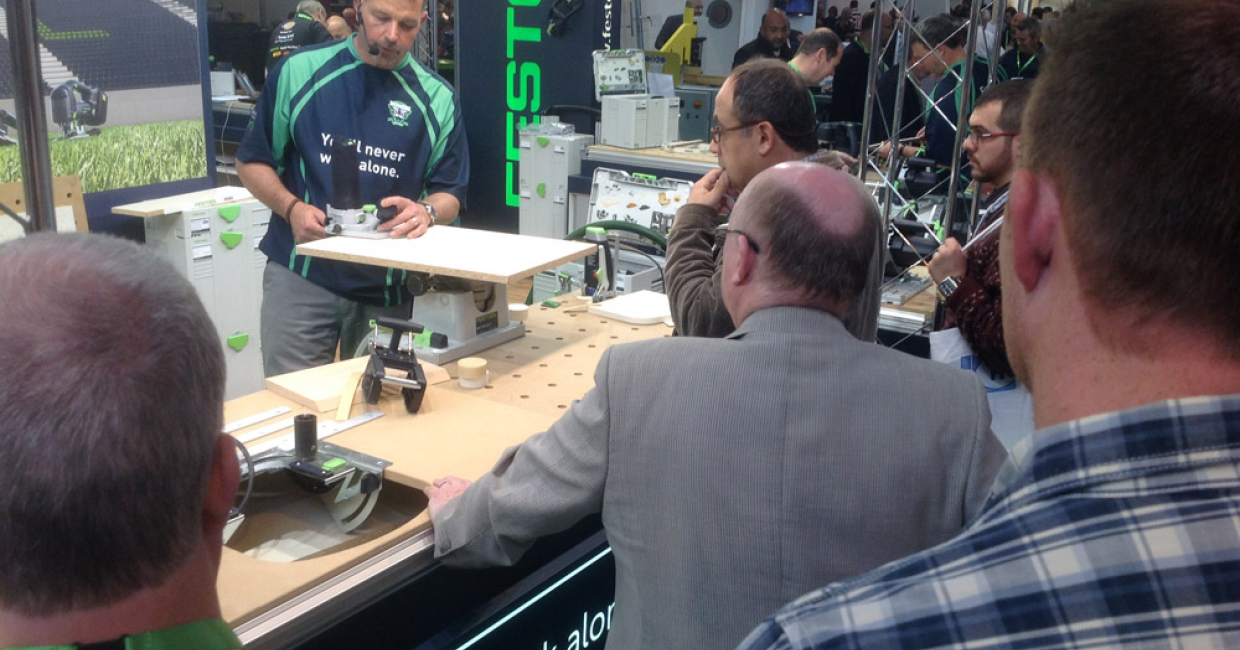 Festool stand was really proactive with day-long demonstrations