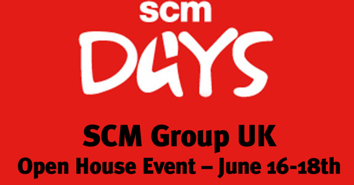 SCM's next open house event is June 16-18th in Nottingham