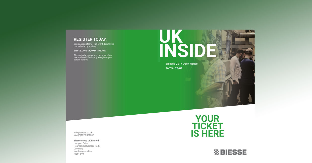 Visit Biesse UK's open house this September