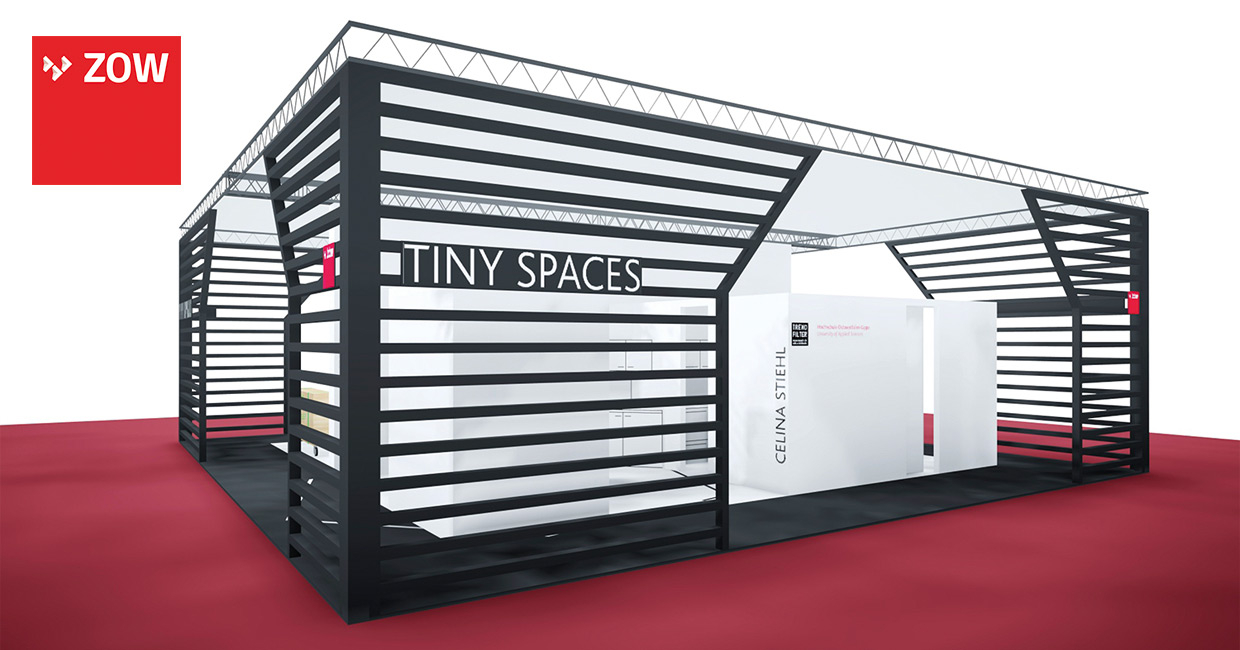 ZOW's new Tiny Spaces show stand option