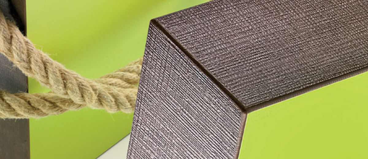 New from Ostermann: textile embossing – now also for uni-coloured edging