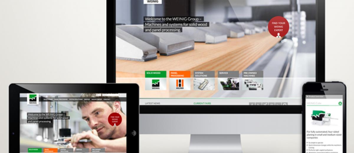 Weinig reloaded – new generation website goes online