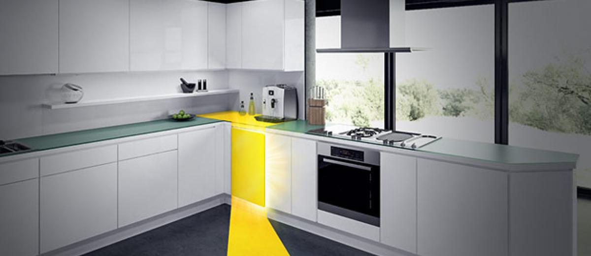 Cornerstone is an innovative corner cabinet solution from Vauth-Sagel