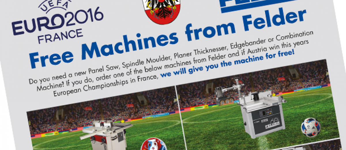Free machines from Felder (when Austria win the Euro's)