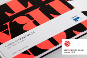 Interprint's Living in Contrasts decor book recognised with red dot award