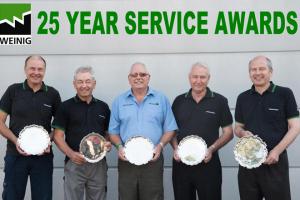 Weinig marks 25 year service awards