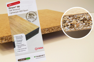 Finsa provide veneered lightweight MDF through Timbmet