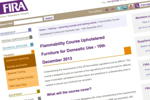 FIRA to hold upholstery flamability regulations training course