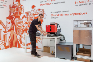 Visitors queue for Blum KBB experience