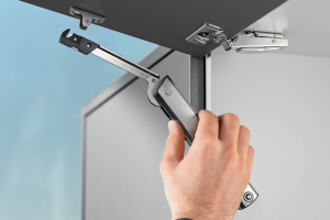 Blum's new lift stay solution for compact cabinets
