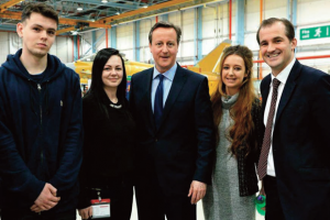JJO apprentices meet Prime Minister David Cameron