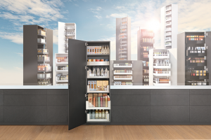 The Space Tower larder unit by Blum – the convenient way to store food