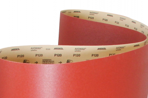 New improved backing paper for Mirka paper belt products