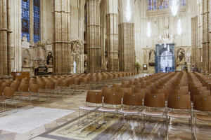 Mighton partner Anker Stuy gives seating a great finish in abbey renovation