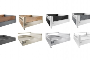 Pre-assembled Hettich drawers from Ney