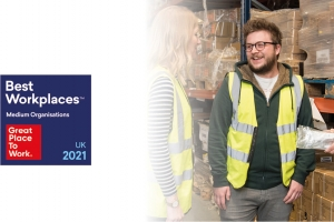 Ironmongery Direct recognised as one of the UKs 'Best Workplaces 2021'
