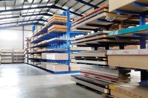 Cantilever racks for wooden panels