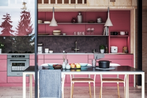What are the latest colour trends for kitchen and bathroom furniture?