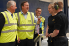 The Prime Minister David Cameron visits Decorative Panels