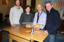 Bucks New University builds new altar table for top school's chapel