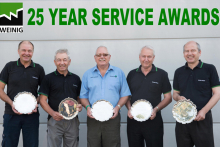 Weinig marks 25 year service awards