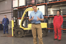 Half measures warning on fork lift tests