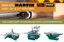 Markfield Woodworking Machinery open days with Martin and Trend Windows