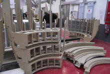 Curved seating pods made easy with Alphacam's five-axis toolpaths