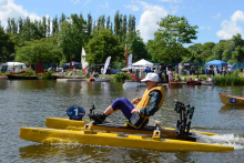 Makita in ship shape at water craft Makita Cordless Canoe Challenge