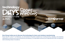 SCM Group's latest technology days for door and window production