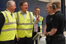 The Prime Minister David Cameron visits Decorative Panels