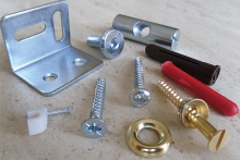 Screws and fittings for furniture and joinery