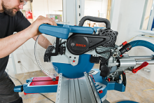 Two new professional Bosch sliding mitre saws