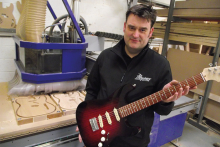 Alphacam is music to guitar maker's ears