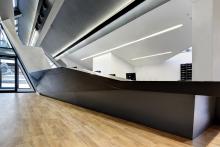 Impressive desk made possible with HI-MACS