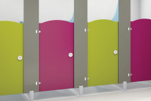 Mix and match washroom materials