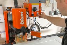 Blum's EASYSTICK improves manufacturer's precision andefficiency
