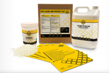 Adhesive cleaners and release agents formulated for the wood and furniture industry