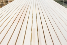 Profiling and sanding lines for sound-absorbing panels