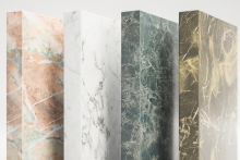Ostermann's new ABS edgings with cutting-edge marble decors
