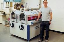 Alpha-Brush reduces time spent hand-sanding for bespoke furniture maker